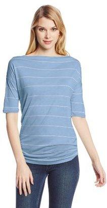 Calvin Klein Jeans Women's Striped Kimono Sleeve Tee