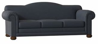 Omnia Leather Sedona Sleeper Sofa Omnia Leather Body Fabric: Southwestern Blue, Leg Color: Cherry, Nailhead Detail: Small Antique Touching, Seat Cushion Fill: Down