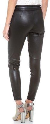 Marchesa Voyage Leather & Lace Combo Pants