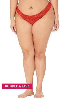 Hanky Panky Plus Size Signature Lace Original Rise Thong (Roasted Pumpkin) Women's Underwear