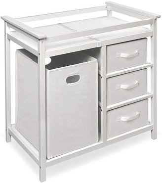Badger Basket Toys Modern Changing Table with Hamper/ 3 Baskets - White