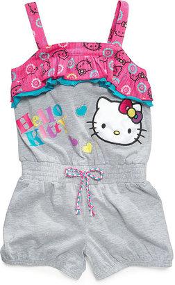 Hello Kitty Kids Romper, Little Girls Graphic Print Romper