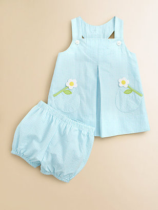 Florence Eiseman Infant's Seersucker Dress and Bloomer Set