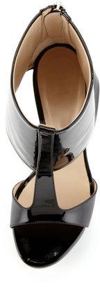 Ruthie Davis Ashlee Patent Leather Platform Sandal, Black