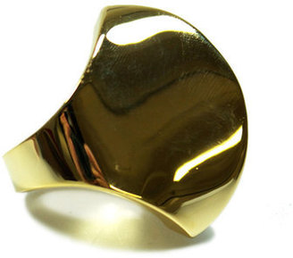 Noir Smooth Modernist Fan Out Ring