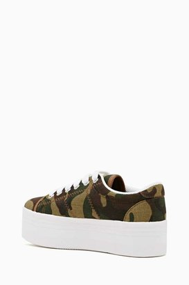 Nasty Gal Zomg Platform Sneaker - Camo