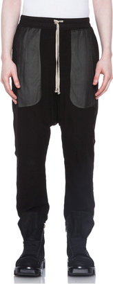 Rick Owens Silk Drawstring Pant in Black