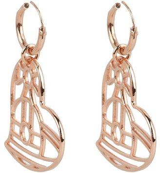 Vivienne Westwood Thin Line Heart Earrings (Palladium) - Jewelry
