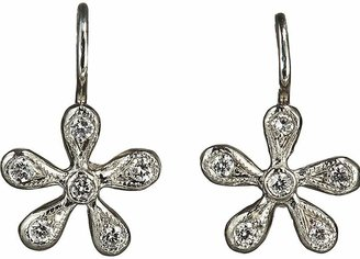 Cathy Waterman Women's Pave Diamond Medium Daisy Earrings