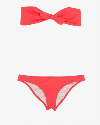 Eberjey Arrow Tie Bandeau Bikini: Guava