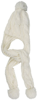 Cable Knit Beanie Scarf