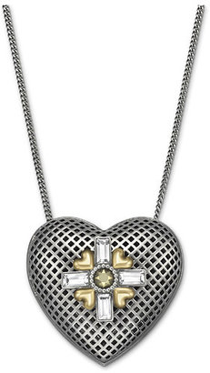 Swarovski R&J Long Heart Pendant