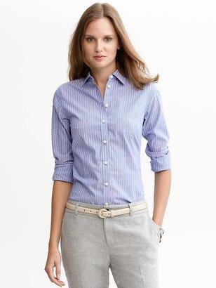 Banana Republic Fitted non-iron multi-stripe shirt