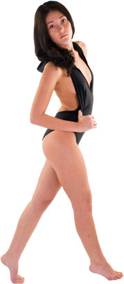 American Apparel Nylon Tricot Hooded Swimsuit
