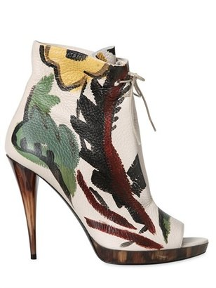 Burberry 115mm Hand Painted Deer Leather Boots