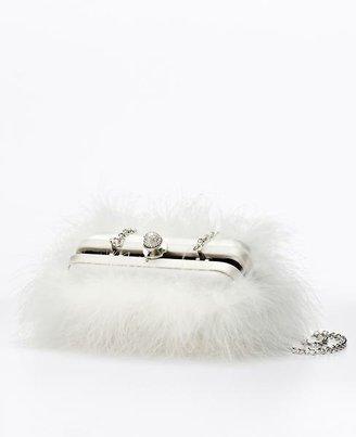 Ann Taylor Marabou Feather Clutch