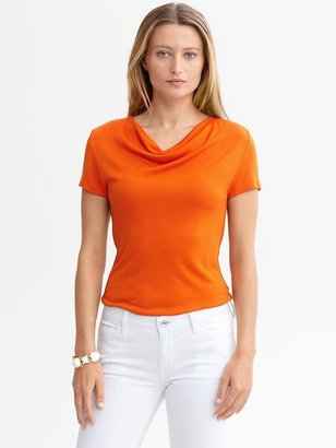 Banana Republic Short-sleeve cowl-neck top