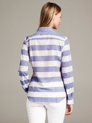 Banana Republic Soft-Wash Horizontal Stripe Shirt