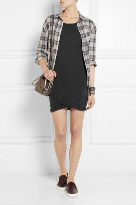 James Perse Slub linen-blend jersey mini dress