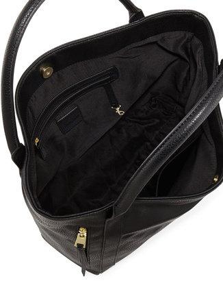 Neiman Marcus Double Vertical Zipper Tote Bag, Black