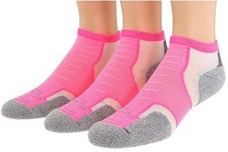 Thorlos Experia Micro Mini 3-pair Pack (Electric Pink) No Show Socks Shoes