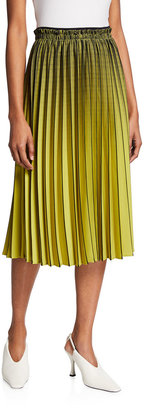 Proenza Schouler White Label Pleated Ombre Plaid Skirt
