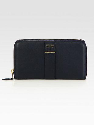 Giorgio Armani Center-Band Zip Around Wallet