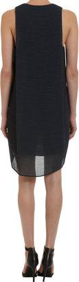 Helmut Lang Sleeveless Side Drape Dress