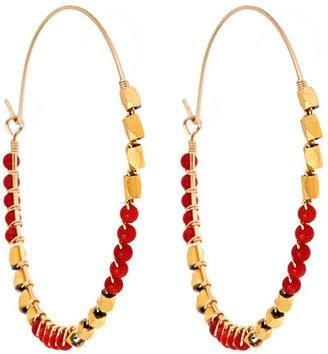 Wendy Mink Coral Hoop Earrings