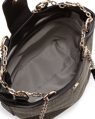 Gianfranco Ferre GF Woven Chain-Strap Shoulder Bag, Brown/Black