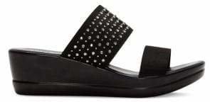 Italian Shoemakers Embellished Wedge Sandals