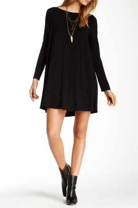 Go Couture Long Sleeve Boat Neck Dress