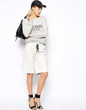Asos Leather Boxing Shorts - White