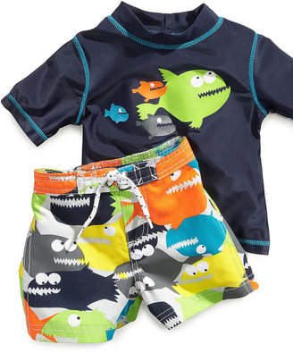 Carter's Baby Set, Baby Boys Newborn Fish Rash Guard and Swim Shorts