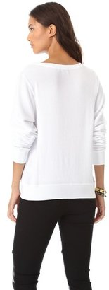 Wildfox Couture Love Junkie Baggy Beach Sweatshirt