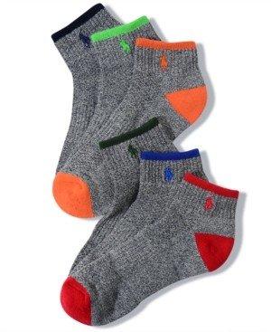 Polo Ralph Lauren Men's Socks, Athletic Quarter 6 Pack