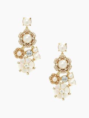 Kate Spade Park floral chandelier earrings