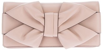 Valentino Garavani silk bow clutch