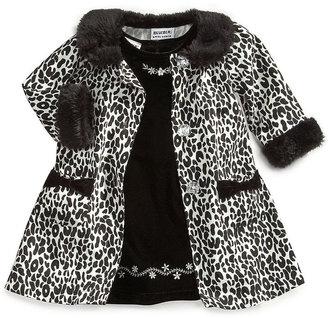 Blueberi Boulevard Baby Set, Baby Girls 2-Piece Dress and Coat