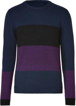 Marc by Marc Jacobs Plum Jam Multi Merino Wool Freddie Pullover