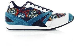 Balenciaga Indian-print leather trainers