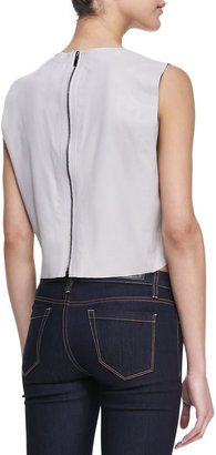 LaMarque Sleeveless Leather Crop Top