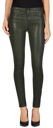 J Brand '8001' Lambskin Leather Pants $948 thestylecure.com