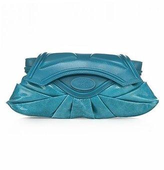 Zac Posen Rose Clutch, Turquoise