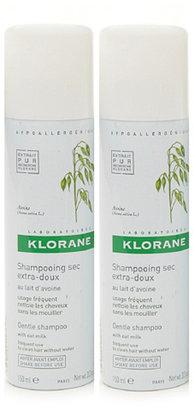 Klorane Oat Milk Dry Shampoo (Non-Aerosol) Twin Pack