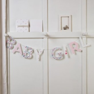 The White Company Baby Girl Bunting & Card, Pink, One Size