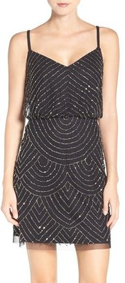 Women's Adrianna Papell Sequin Mesh Blouson Dress $198 thestylecure.com