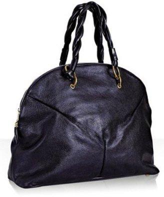 Yves Saint Laurent metallic navy calfskin 'Calypso' large bag