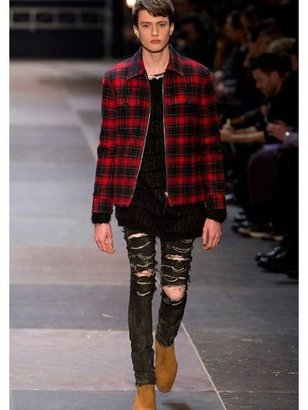 Saint Laurent 15.5cm Distressed Stretch Denim Jeans