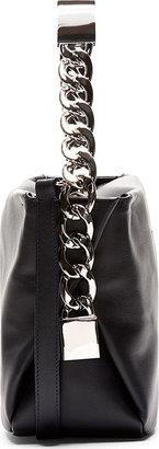 Maison Martin Margiela Navy & Silver Leather Buckled M Bag